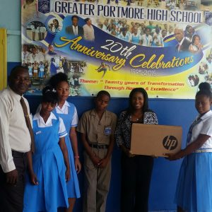 KARTEL'S MERCHANDISING COMPANY DONATES FIRST OF MANY COMPUTERS TO SCHOOLS